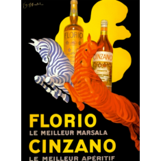Vintage Florio Cinzano ready to hang canvas print