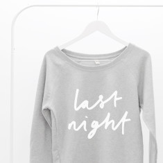 Last Night Women's Scoop Neck Sweater