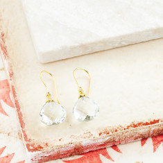 Hera Hooded Drop Earrings With Green Amethyst