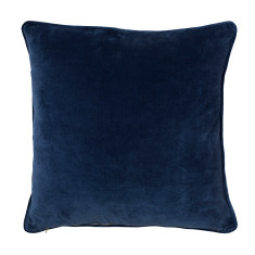 Basic velvet cushion cover in navy - large