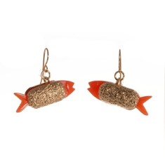 Fish and chip earrings