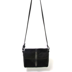 Sophia boxy satchel black cowhide