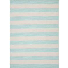Aqua Sky hand woven flat weave rug