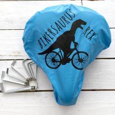 Bikersaurus Rex waterproof bike seat cover