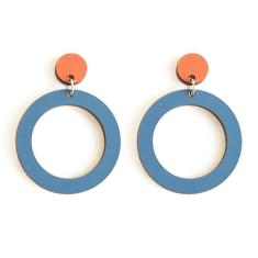 Satellite Hoops - Burnt Orange/Dusty Blue
