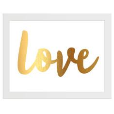 Love gold print