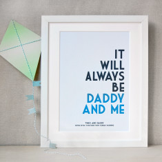 Personalised Daddy And Me Print