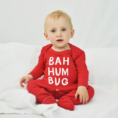 Bah Humbug Christmas Baby Romper Sleepsuit