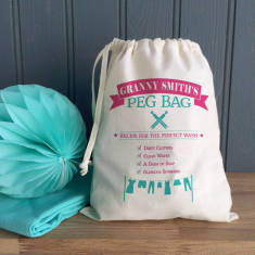 Vintage Style Personalised Peg Bag