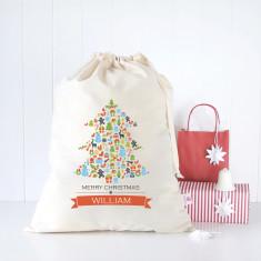 Tree collage personalised Santa sack