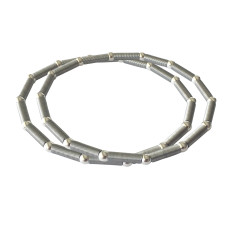 Satellite bracelet with silver beads