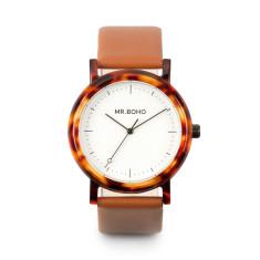 Mr Boho Acetate White Walnut Watch