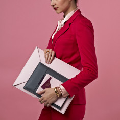 Soft Leather Laptop and Document Travel Sleeve for Her