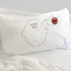 Cricket Dreams pillowcase with personalisation