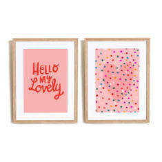 Hello My lovely art prints (set of 2)