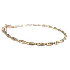 Two strand sterling silver omega bracelet