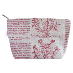 Toiletries bag in Latin herbal red