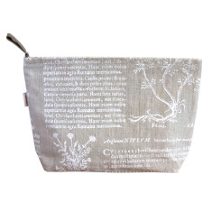 Toiletries bag in Latin herbal white