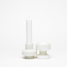 Base 212 tools candleholders in marble (set of 2)