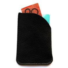 Top of the town card holder in black