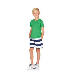 Boys Board shorts in Navy & White Stripes