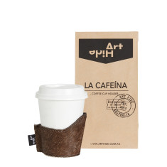 La Cafeina coffee cup holder in tornasol
