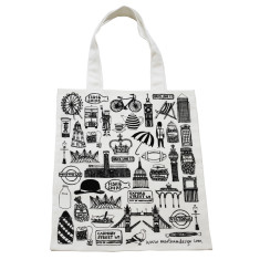 Illustrated British tote bag