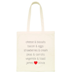 Personalised we go together tote bag