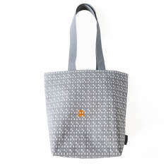 Grey paper house lux tote bag