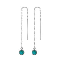 Turquoise Droplet Thread Earrings