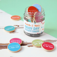 Personalised Children's Rainy Day Activity Tokens Jar