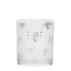 Diamond Print Silver Candle