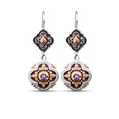 Isobella Sterling Silver & Gold Vermeil Amethyst Drop Earrings