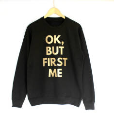 Ok, but first me funny gym sweatshirt