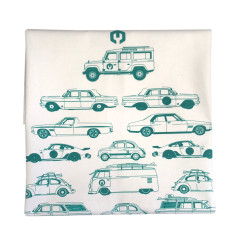 Christmas Tea Towel for the Car Enthusiasts