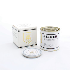 Code Manly Linen Candle