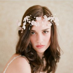 Beautiful flowers headdress