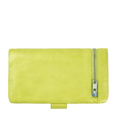 Esther leather wallet in lime