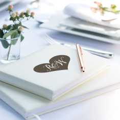 Personalised Heart Initials Guest Book