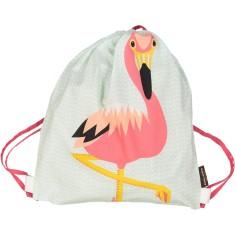 Organic cotton Flamingo rucksack