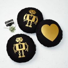 Set Of Three Robot Cushions