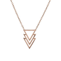Multi triangle necklace in rose gold