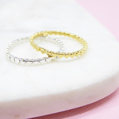 Mini heart ring (various colours)