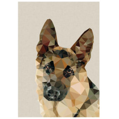 Geometric Shepherd dog art print
