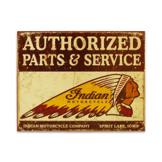 Authorised Indian Parts & Service Sign