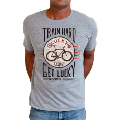 Train hard get lucky men's t-shirt