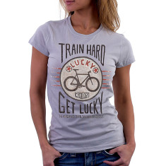 Train hard get lucky women's t-shirt