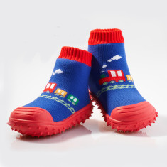 Choo choo trains non-slip socks