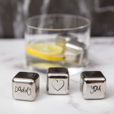 Daddy Love You Stainless Steel Ice Cubes
