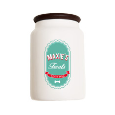 Personalised pet ceramic treat jar